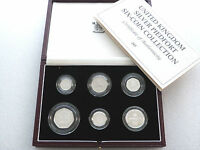 1992 Royal Mint British Piedfort Deluxe Silver Proof 6 Coin Set Box Coa