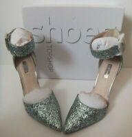 Ladies Topshop Grace Mint  Wide Ankle Strap Heels Size 6