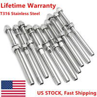 """T316 Stainless Steel End Fitting for Cable Railing for 1//8/"""" Cable Lot of 100"""