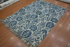 8'x10' Rug |Traditional Hand Tufted  Gray Blue Wool Area Rug