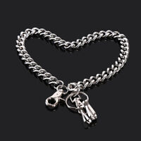 Men Wallet Chains Silver Metal Key Chain Rock Punk Biker Accessories S
