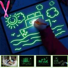 Fluorescent Light Writing Pad Child Kids Drawing Painting Board Educational Toy