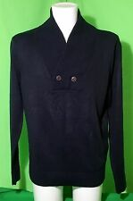 """** RIVER ISLAND **   MENS Navy Thin Knitted JUMPER SWEATER   Large 41-43"""""""