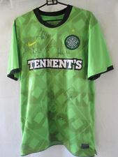 2010-2011 Squad Firmado Celtic Away camiseta de fútbol del Coa / 13289