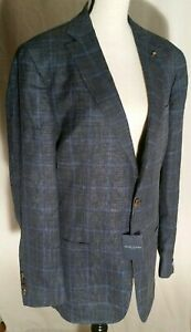Peter MillarLoro Piana Summertime Windowpane Jacket in Terno MS18RJ13 44R $898