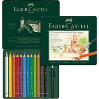 #116912 Faber Castell Tin of 12 Watercolour Pencils Set Assorted Colours Artist