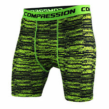 Mens Fitness Gym Shorts Compression Dri fit Workout Sport Trunks Athletic Tights