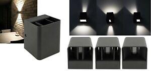 LED ALU Außen-Leuchte Wandleuchte IP54 Wand-Lampe 2x3W Up- Downlight 23083