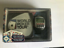 World Poker Tour Travel Game Watch Texas Hold'em Official WPT Coasters W/battery