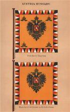 AUSTRIA-HUNGARY FLAGS. Empress Standard. Archduke & Archduchess Standard 1916