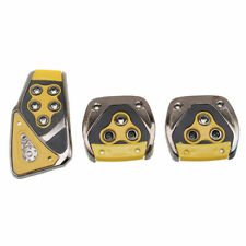 3Pc Universal Car AT Foot Brake Clutch Accelerator Pedal Pads Cover Non-Slip