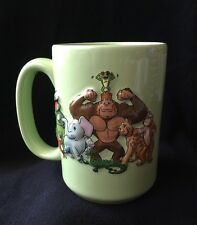 Rainforest Cafe 3D Green Mug featuring Gorilla Alligator Elephant Monkey 16 oz