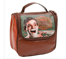 Bolso Neceser de Aseo y Baño Afeitado Clasico Diseño Vintage Retro 510940 7094