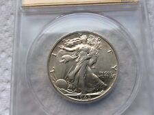 1945 Walking Liberty Half Dollar-ANACS 55- Lamination Error