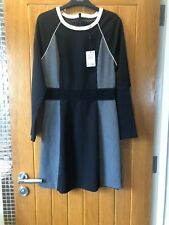 Next Pretty Multi Colour Block Bodycon Dress New With Tags Size 10reg