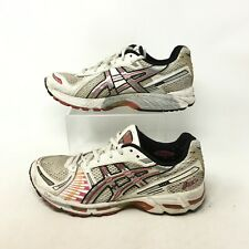 Asics Gel Kayano 12 Running Sneakers Low Top Lace Up Leather White Pink Womens 9