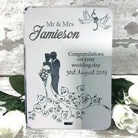 Personalised Wedding Sign Mr & Mrs Plaque Anniversary Gift or Keepsake