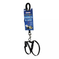 Marshall Ferret Harness and Lead 48� Black Leash New Nip