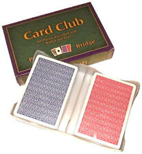100% Plastic Playing CARD CLUB Poker CASINO LAS VEGAS CARDS Made in Italy *
