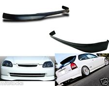 96-98 CIVIC HATCHBACK 3DR TYPE R PU BLACK ADD-ON FRONT + REAR BUMPER LIP SPOILER