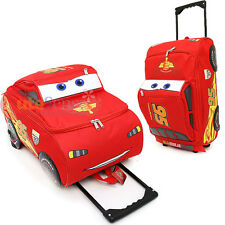 Cars Mcqueen Rolling Bag  3D Shape  Luggage Travel Trolley Roller Bag -Large