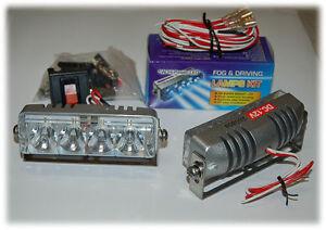 Fog Lamp LED Dual High Power Light Kit Clear 1 Watt White