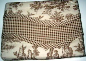 3 Waverly Charmed Life Linen Cotton Valance 52 x 18 Brown French Pastoral Toile