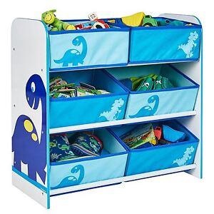 Dinosaurier 6 Abfalleimer Aufbewahrung Einheit MDF Kinder Schlafzimmer Für Toys
