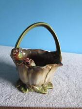 "Decorative Porcelain Basket 6"" Tall"