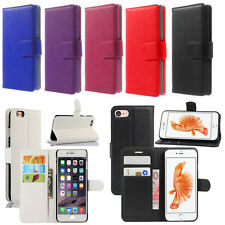 For Apple iPhone 8 SE 5s 6s 7 Plus Leather Flip Wallet Magnetic Case Cover