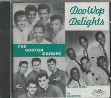 DOO WOP DELIGHTS - CD - The Boston Groups - BRAND NEW
