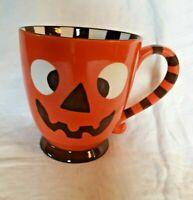 Starbucks 2007 Halloween Coffee Mug Orange Jack-O'-Lantern