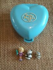 Vintage Bluebird Polly Pocket 1993 Pretty Pandas Compact - Complete X2