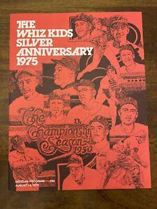 1975 Philadelphia Phillies The Whiz Kids Silver Anniversary Program Signatures
