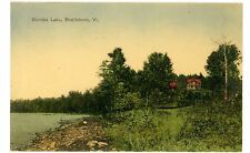 Brattleboro VT -VIEW AT SUNRISE LAKE- Handcolored Postcard