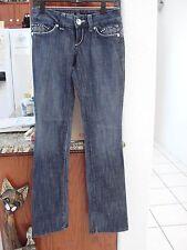 Guess Premium Jeans size 26/34  NWOT light flare Embellished blue