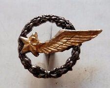 Insigne boutonnière à vis Armée de l'Air ÉLÈVE PILOTE et PERSONNEL VOLANT métal