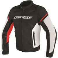 Dainese Men's Air Frame D1 Mesh Motorcycle Jacket Black/White/Red Size 50 EU