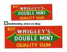 WRIGLEY'S Rack Jar STICKER Decal Set Gumball Gum Vending Machine Wrigleys
