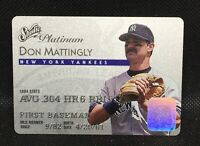 1995 Leaf Studio Platinum Series Series #3 Don Mattingly NY Yankees HOF MINT