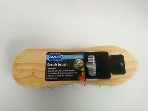 Scrubbing Brush wooden  19cm long for carpets floors home garden garage