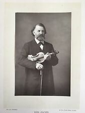 Joseph Joachim (Violin): Original Woodburytype Photograph