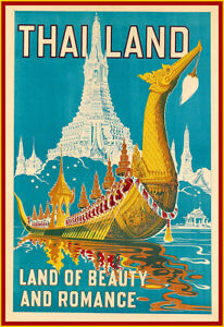 Travel  Thailand Land Of Beauty And Romance  Holiday Art Vacation Poster Print