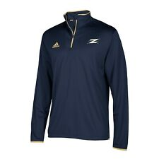 Akron Zips NCAA Adidas Men's 2018 Sideline Navy Blue 1/4 Zip L/S Knit