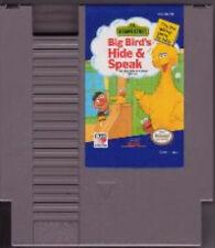 BIG BIRD'S HIDE AND SPEAK ORIGINAL CLASSIC NINTENDO GAME SYSTEM NES HQ