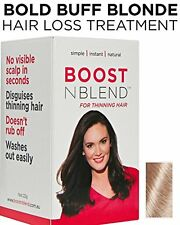 BOOSTnBLEND Blonde Hair Loss Scalp Concealer for Women with thinning hair. Insta