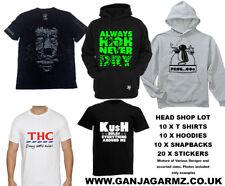 head shop lot tshirts hoodies snapbacks weed cannabis bong pipe supplies