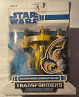 Hasbro Star Wars Clone Wars Transformers Crossovers Jedi Starfighter To... For Sale