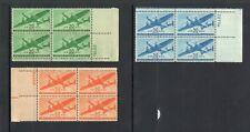 US C25-C31 VF NH plate blocks, CV $81.20