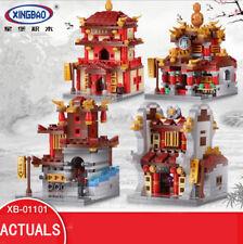 XINGBAO Building Blocks Toy Bricks Chinatown Street View MOC 4PCS/Set